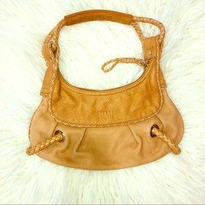 Stuart Weitzman small tan shoulder bag